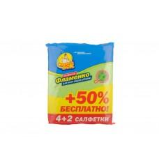 Серветки для прибирання віскозні Фламенко 4 in+2