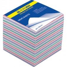 """Блок для нотаток кольоровий Buromax """"Зебра"""" 90*90*70мм не склеяний ВМ.2269"""