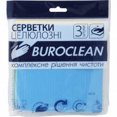 Серветки для прибирання целюлозні Buroclean 3шт