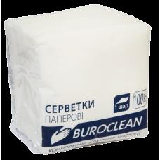 Серветка до столу біла Buroclean 100шт/упак