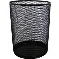 Корзина для сміття металева кругла чор.